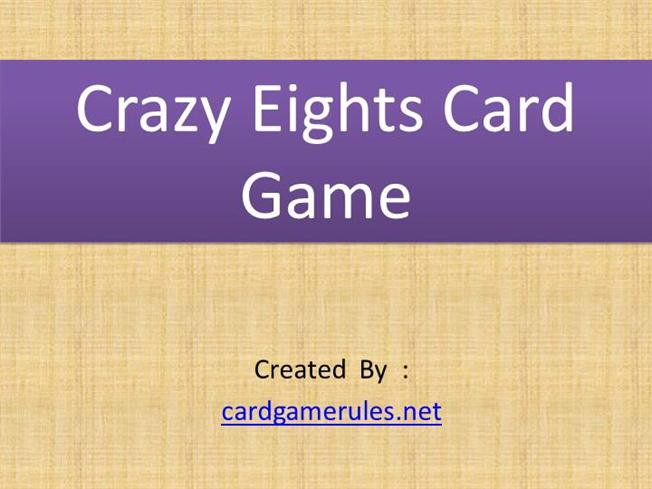 crazy 8 card game instructions