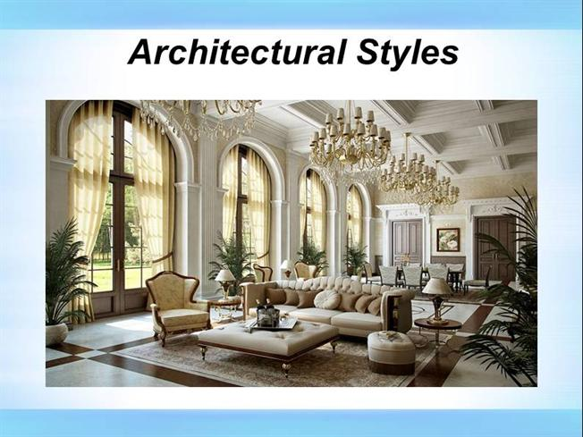 Different architectural styles authorstream for Basic architectural styles