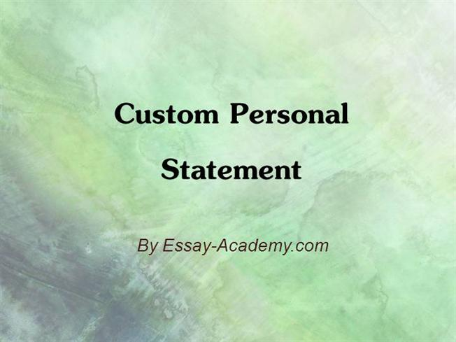 Custom personal statement