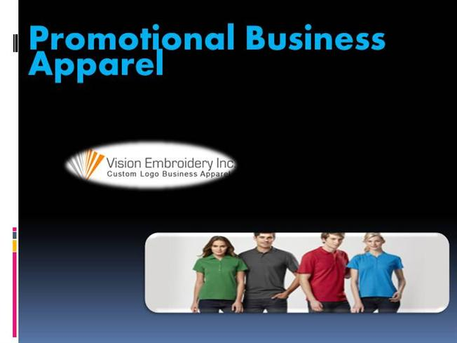 Promotional business apparel authorstream for Custom t shirts long island ny