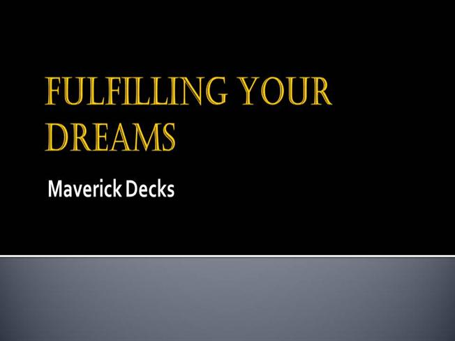 fulfilling your dreams essay Free essays following your dreams perhaps we can look to those like mcclintock that have already set and started fulfilling their goals following your dreams.