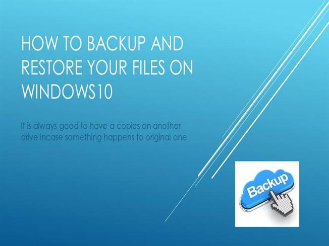 Backup or restore your files