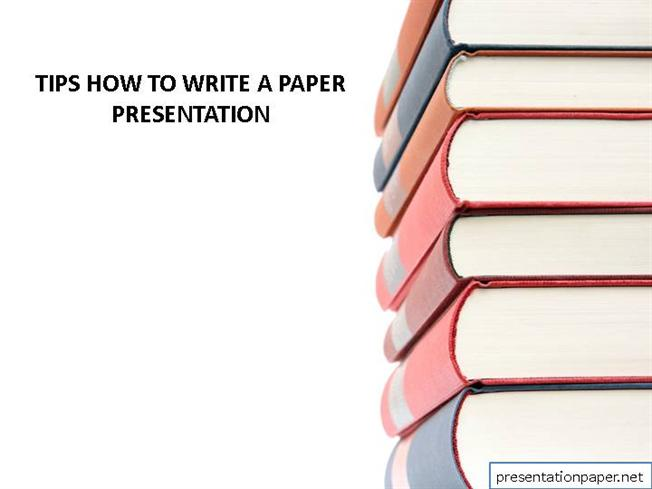how to write the paper presentation