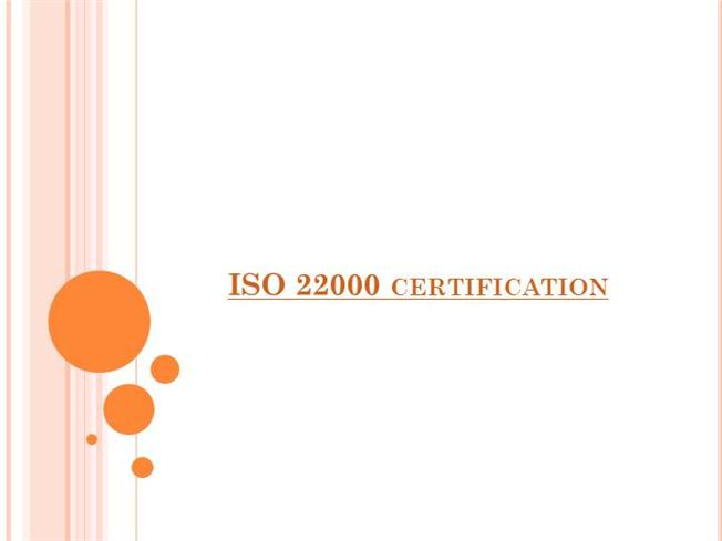 how to get iso 22000 certification