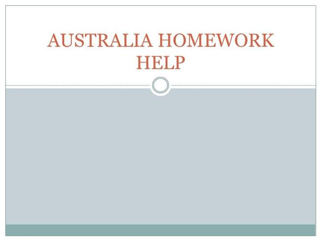 Homework help description