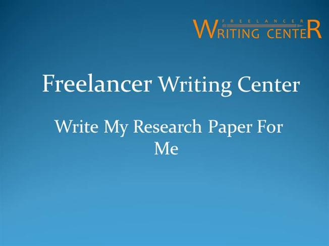 Who can Write a Research Paper for Me?