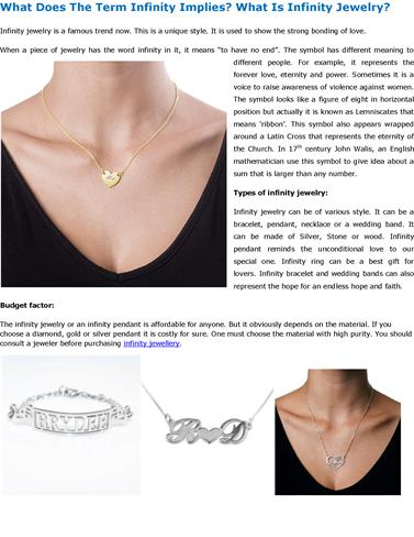 What Does The Term Infinity Implies What Is Infinity Jewelry