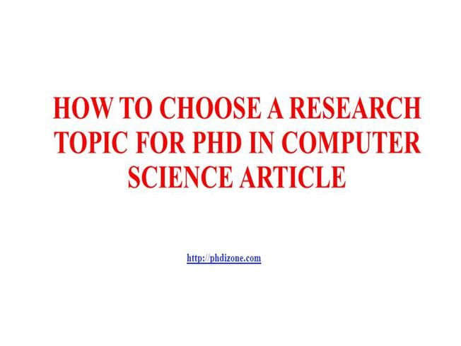 Thesis only phd in computer science pdf download