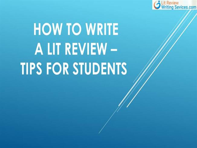 how to write a lit review for a paper