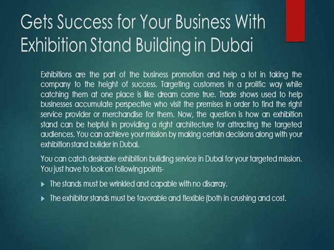 Gets Success for Your Business With Exhibition Stand Building in D..