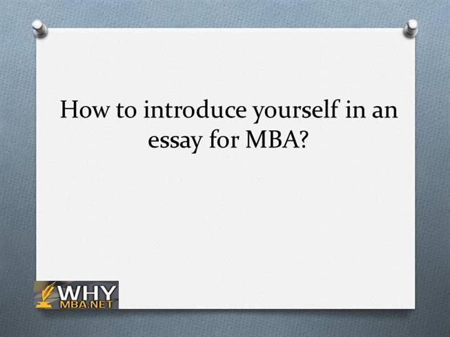 Essay on how to introduce yourself