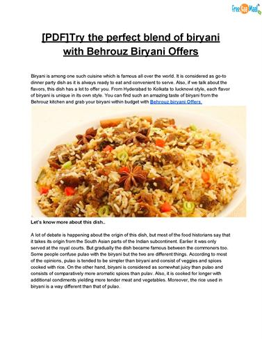 Pdftry the perfect blend of biryani with behrouz biryani offers pdftry the perfect blend of biryani with behrouz biryani offers authorstream forumfinder Gallery