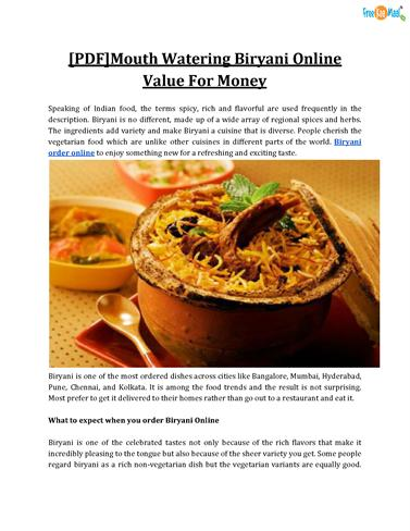Pdfmouth watering biryani online value for money authorstream pdfmouth watering biryani online value for money authorstream forumfinder Images