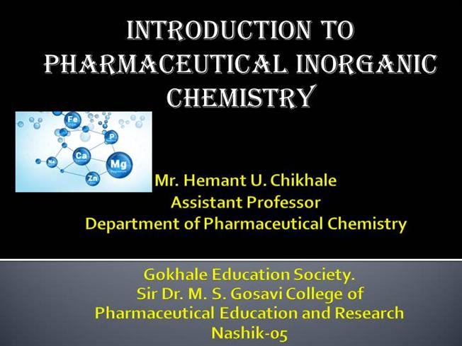 introduction to inorganic chemistry An introduction to inorganic chemistry: what is inorganic chemistry and what is included within this science subject area.