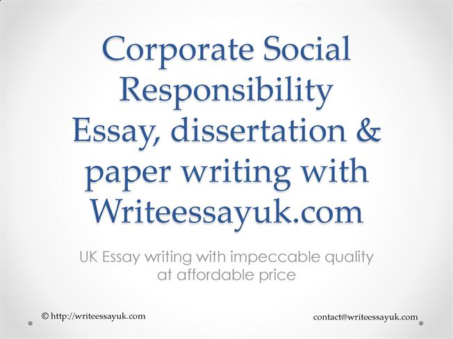 Corporate Social Responsibility Report Writing Services |authorSTREAM