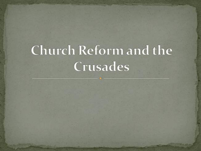 the reform crusades But his recent statements concerning the crusades suggest he slept through history obama's crusade to undermine the history of the is in need of reform.