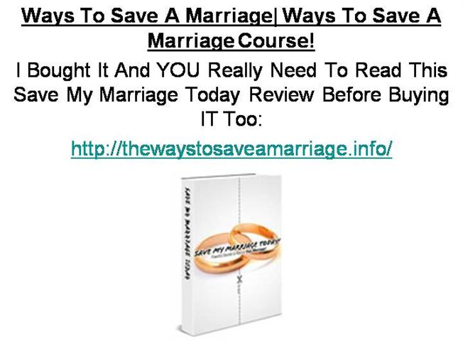 how to save marriage when love is gone