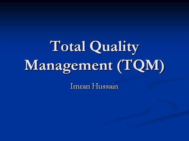Service Quality Management Thesis