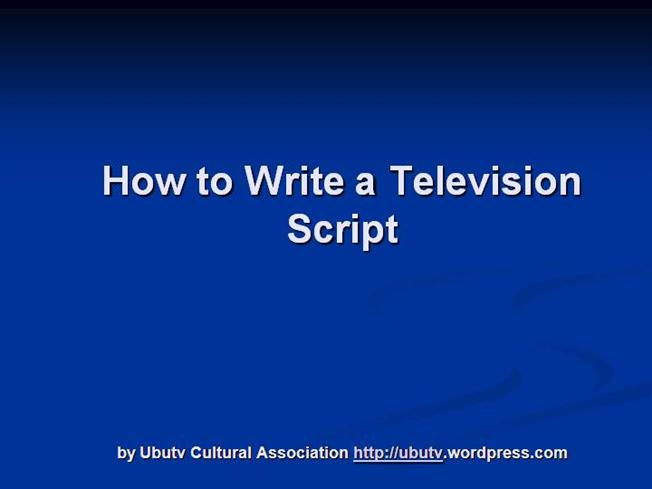 how to write a play script ppt