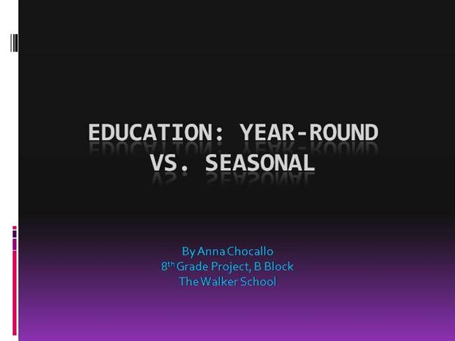 year round education As schools implement common core standards, is it also time to change when students attend school see the top reasons why year round school is a good idea.