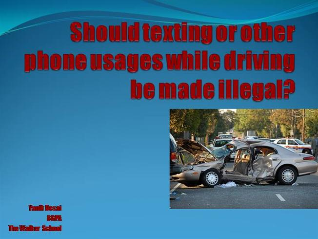 texting while driving should be illegal An updated 50-state chart of cellphone and texting-while-driving laws.