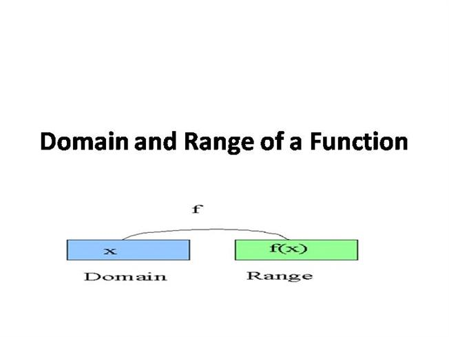 domain and range of a function 2