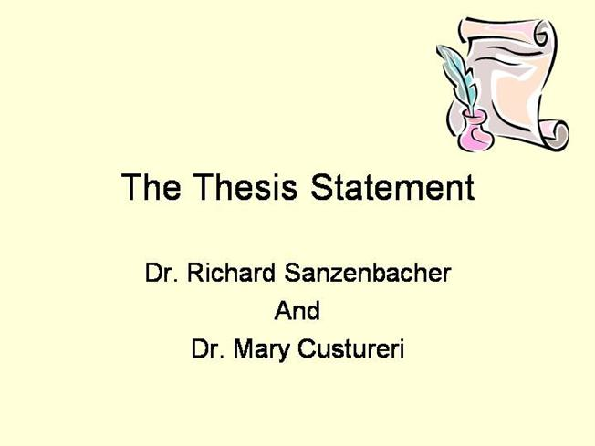 creating effective thesis statements Thesis generator thesis statement this will form the heart of your thesis an effective statement will use the thesis statement guide as many times as you.