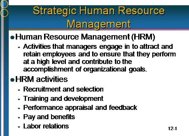 hrm activities undertaken by organization to effectively utilize human resources business essay Human resources management (staffing your and a competent business staff human resources management is the maintain a human resource management system that.