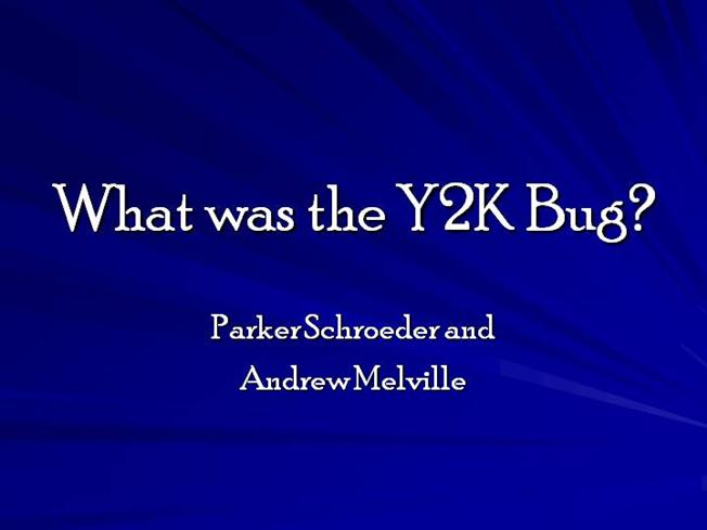 a report on the y2k bug Y2k bug: y2k bug, a problem in western europe the european commission issued a report warning that efforts to solve y2k in many european union member countries.