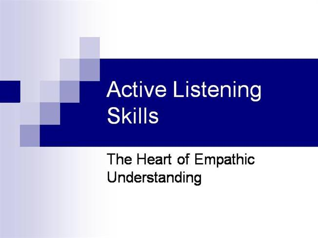 active listening in 4 steps essay