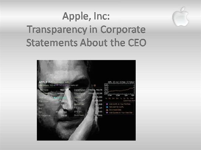 transparency in apple's corporate statements Apple's boring mission statement and what we now compare apple's latest mission statement with some so take another look your company's mission statement.