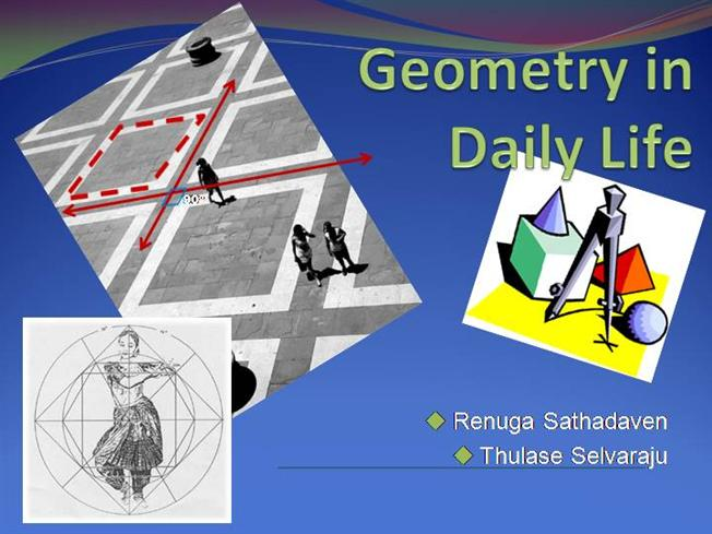 essay on use of geometry in daily life Homepage category geometry in everyday life uses of geometry in our daily life free essays - page 2 geometry in everyday life essay why is geometry important.