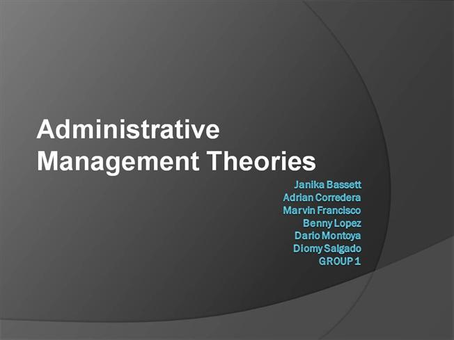 administrative theories of management essay Theory x and theory y are still referred to commonly in the field of management and motivation, and whilst more recent studies have questioned the rigidity of the model, mcgregors x-y theory remains a valid basic principle from which to develop positive management style and techniques.