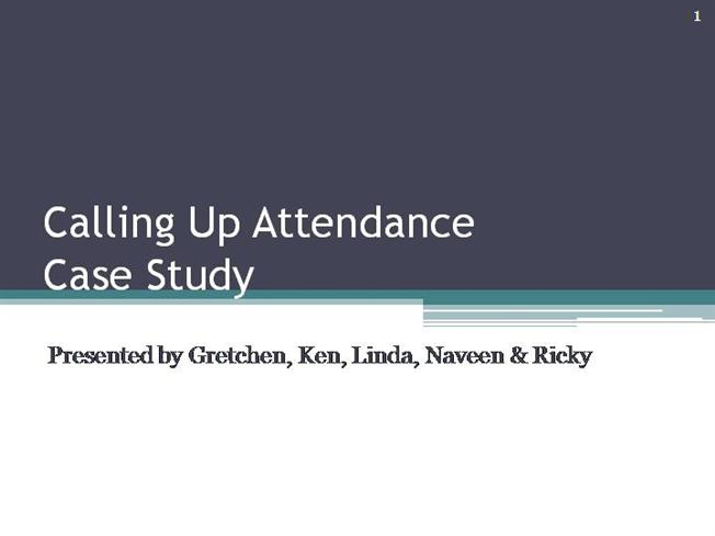 calling up attendance case study A new case study shows the effectiveness of text message appointment reminders in retaining patients via increased visits and operational efficiencies.