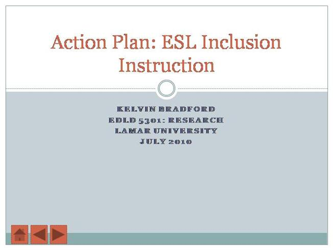 Action Research: Example from an ESL Classroom