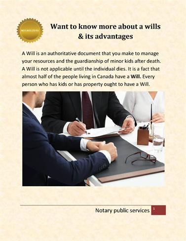 Want to Know More about a Wills & Its Advantages