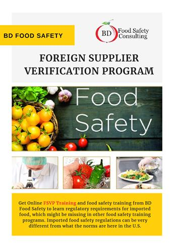 Foreign Supplier Verification Program - BD Food Safety