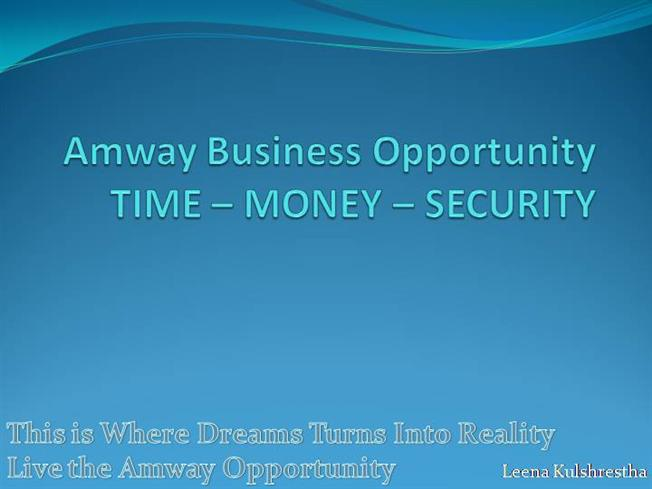 Amway india business plan presentation