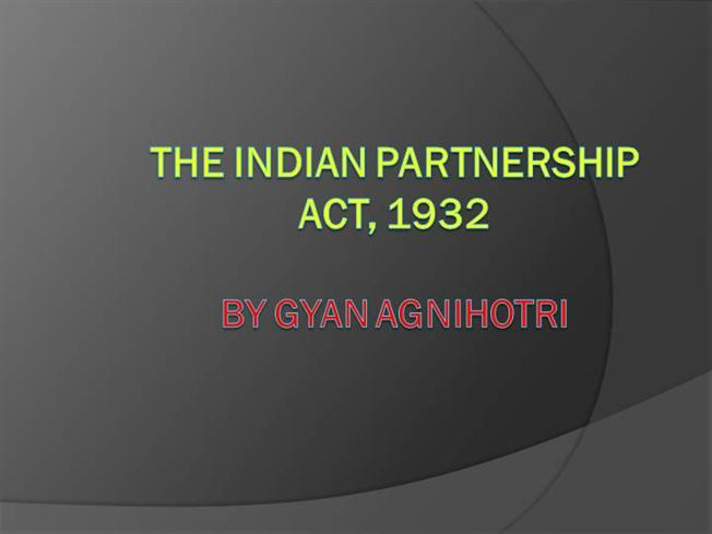 assignment on indian partnership act 1932