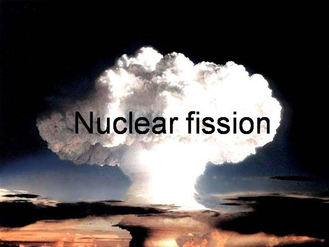 definition of nuclear fission Nuclear fission in american the splitting of the nuclei of atoms into two fragments of approximately equal mass, accompanied by conversion of part of the mass into energy: the principle of the atomic bomb.