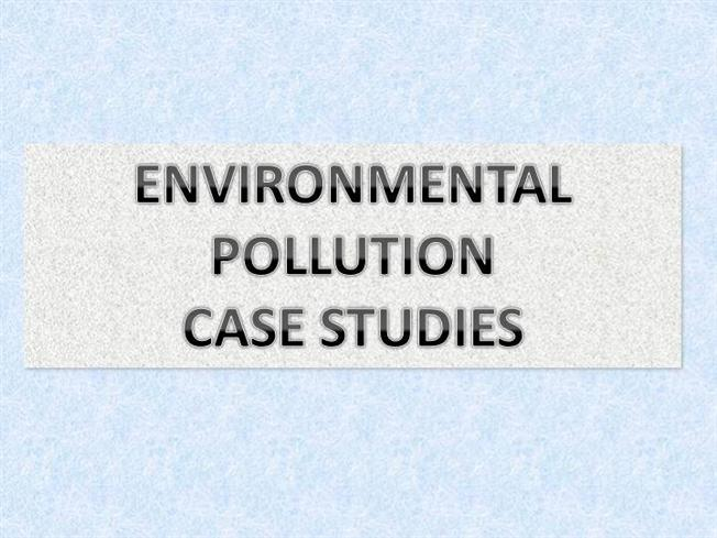 locally relevant case studies of environmental disaster