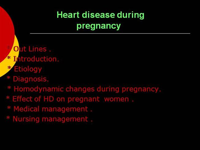 Heart Disease During Pregnancy |authorSTREAM