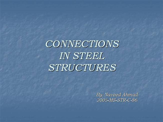 connections in steel structures pdf