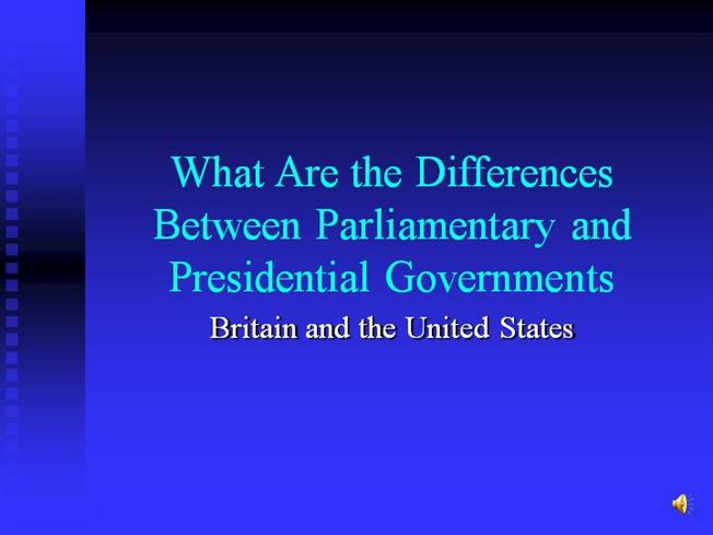 explain the difference between parliamentary and The difference in coalition formation between parliamentary and presidential democracies is one of number and not of quality we also know that, contrary to one strongly held belief, presidential regimes are not.