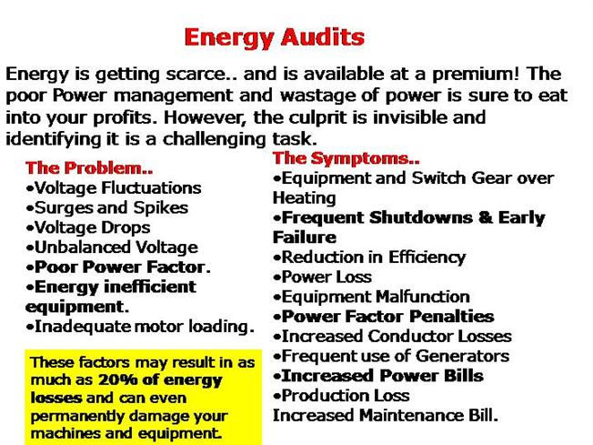 energy audit Energy audit allows you to show homeowners precisely how much that new,  efficient condensing unit will save them in utility bills you can present  homeowners.