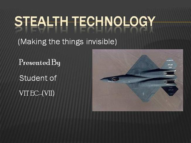 stealth technology authorstream Software Diagram