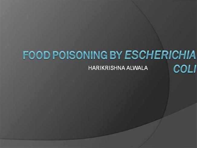 """ppt food poisoning What is food poisoning 1 what is food poisoning by: aishu anand 2 what is food poisoning• """"food poisoning occurs when you swallow food or water that contains bacteria, parasites."""