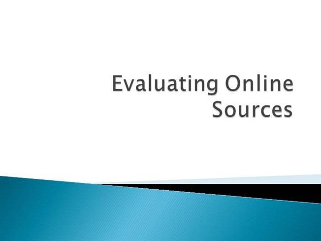evaluating sources Evaluating sources has changed format please read over the instructions below before starting if you have any questions, please contact the research librarians at library@erauedu.