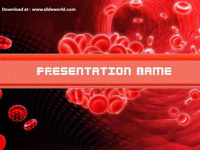 red blood cell powerpoint ppt templates ppt background for red