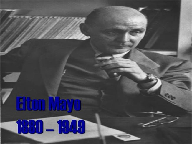 elton mayo contribution to management thinking Human relations theory focuses on the value, needs and contribution of the   elton mayo (1880 – 1949) believed that workers are not just concerned with   the human relation school of thought, which focused on managers taking more  of an.